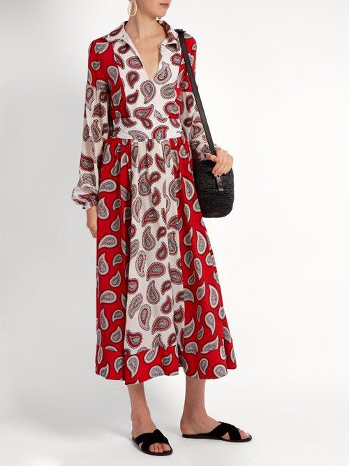 Harrison paisley-print silk midi dress by Dodo Bar Or