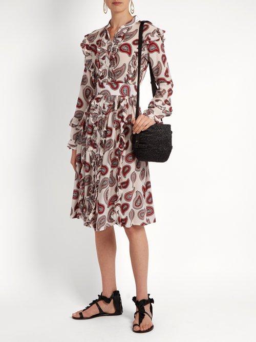 Jagger paisley-print silk dress by Dodo Bar Or