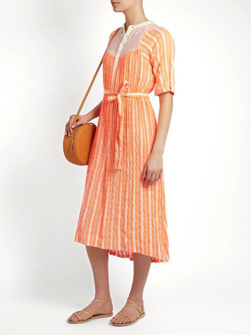 Bronte striped jacquard midi dress by Ace & Jig