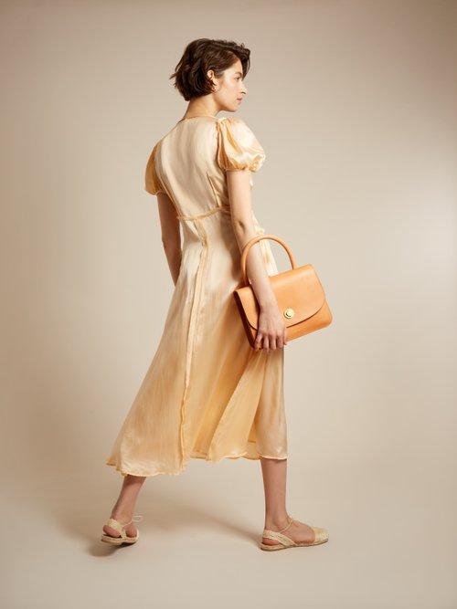 Natalia V-neck silk-satin dress by Attico