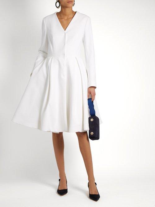 Button-through full-skirt dress by Sara Battaglia
