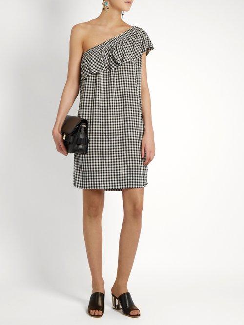 Virgie one-shoulder gingham dress by Velvet By Graham & Spencer