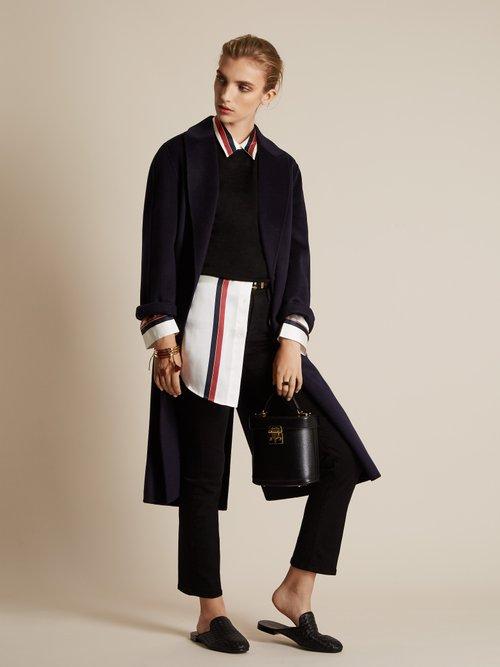 Fiandra Intrecciato leather slipper shoes by Bottega Veneta