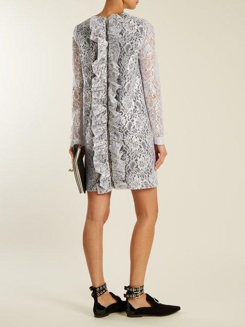 Coated-lace mini dress by Msgm