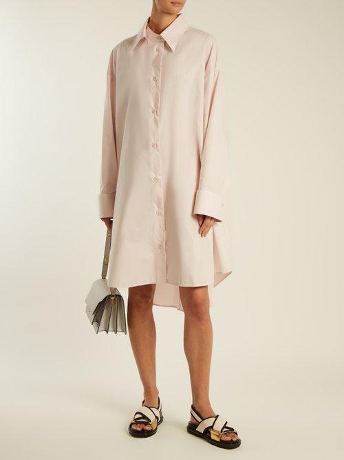 Detachable-collar cotton-poplin shirtdress by Mm6 Maison Margiela