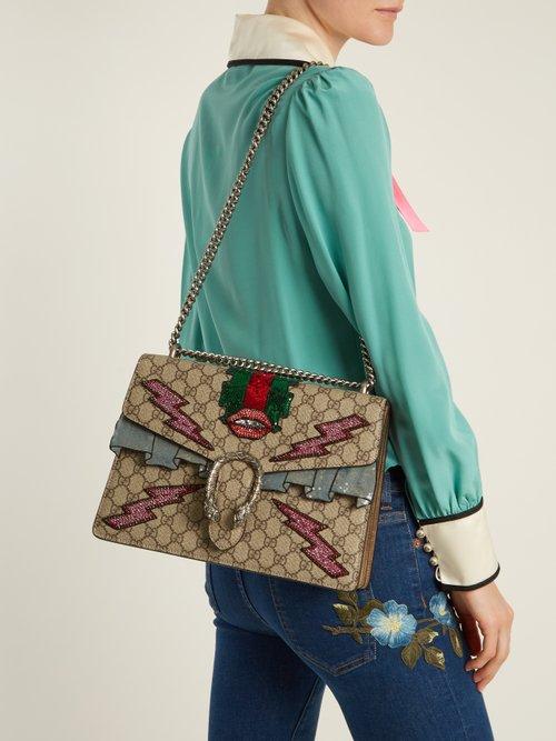 Dionysus GG Supreme embellished shoulder bag by Gucci
