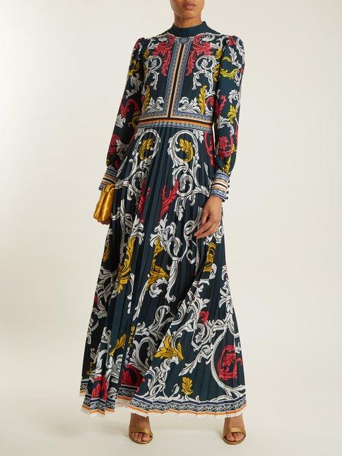 Mizar pleated-crepe gown by Mary Katrantzou