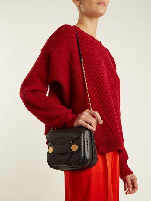 Stella Popper faux-leather cross-body bag by Stella Mccartney
