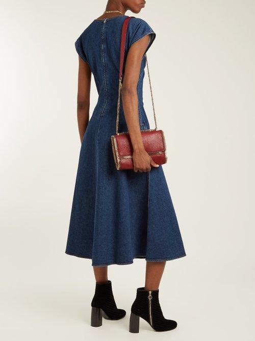 Block-heel woven-velvet ankle boots by Stella Mccartney
