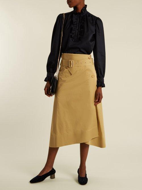 Meredith ruffle-trimmed cotton-poplin blouse by Stella Mccartney