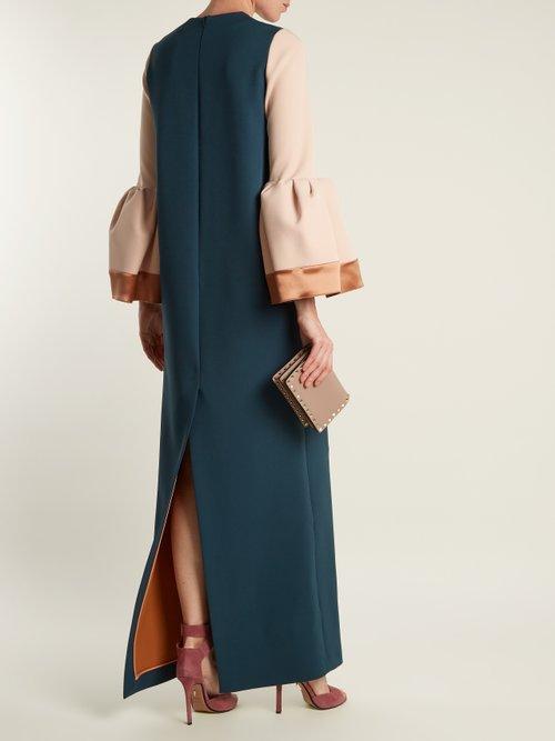 Litani bell-cuff stretch-crepe dress by Roksanda