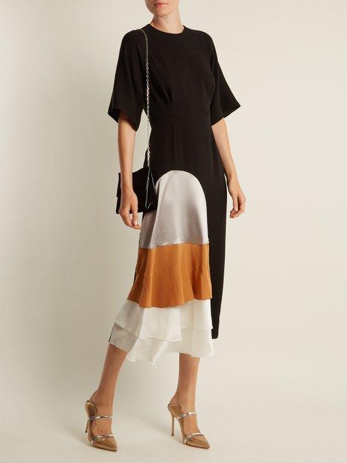 Rauma tiered-ruffle silk-crepe dress by Roksanda