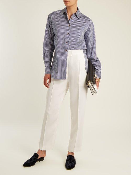 Maria striped-cotton shirt by Khaite