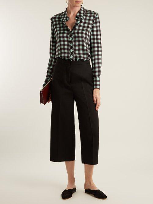 Cossier-print stretch-silk shirt by Diane Von Furstenberg