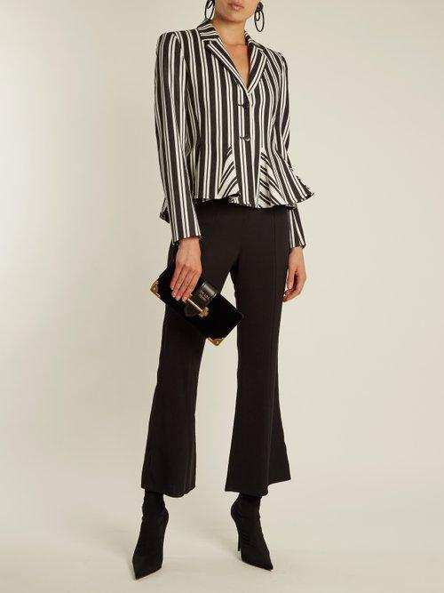 Clary single-breasted striped wool-blend jacket by Altuzarra