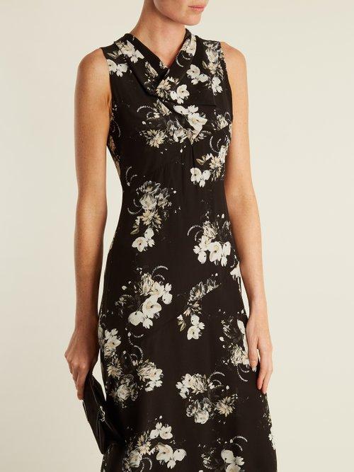 Milana cowl-neck silk crepe de Chine dress by Erdem