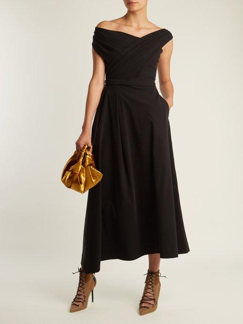 Eva Stretch Cady Midi Dress by Preen By Thornton Bregazzi