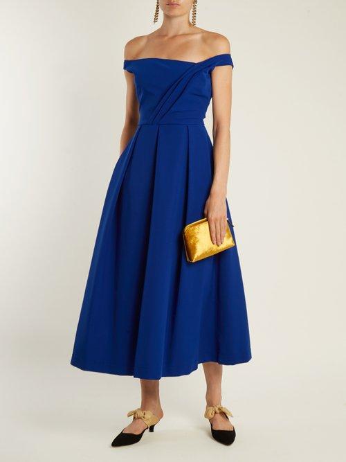 Finella stretch-cady midi dress by Preen By Thornton Bregazzi