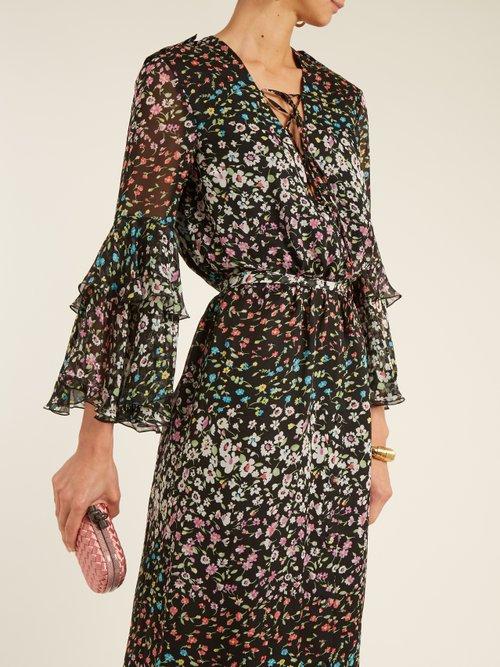 Aria floral-print silk-georgette gown by Raquel Diniz