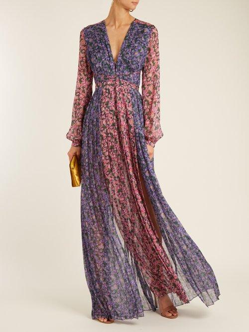 Valentina floral-print silk-georgette gown by Raquel Diniz