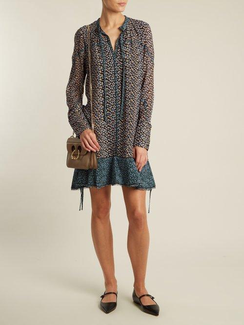 Mini leopard-print silk-crepe dress by Proenza Schouler