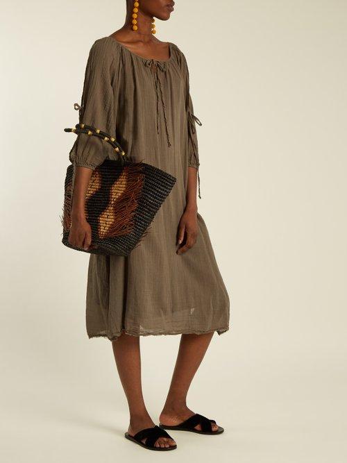 X Kirsty Hume Rose cotton-gauze midi dress by Velvet By Graham & Spencer