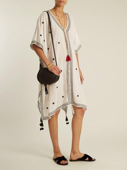Aubree embroidered cotton-gauze midi dress by Velvet By Graham & Spencer