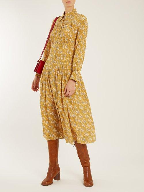 Josie floral-print silk midi dress by Joseph