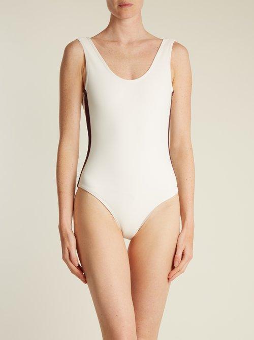 Costa grosgrain-trimmed swimsuit by Albus Lumen