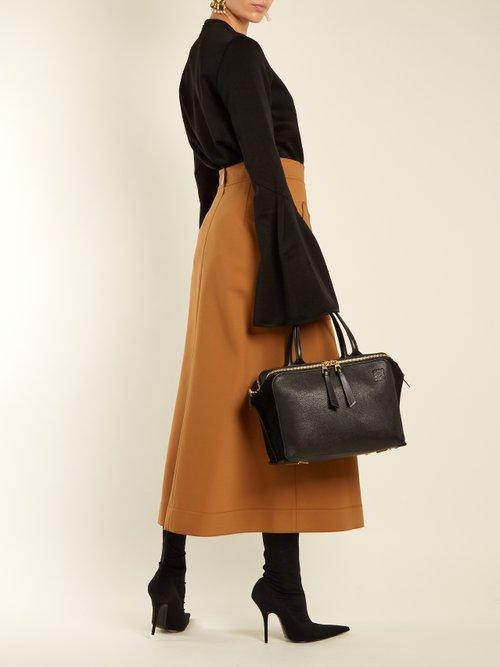 Zipper leather bag by Loewe