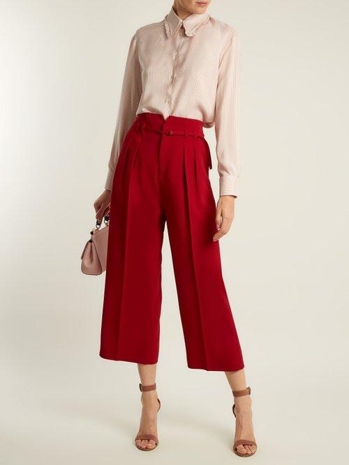 Pinstriped silk shirt by Rochas