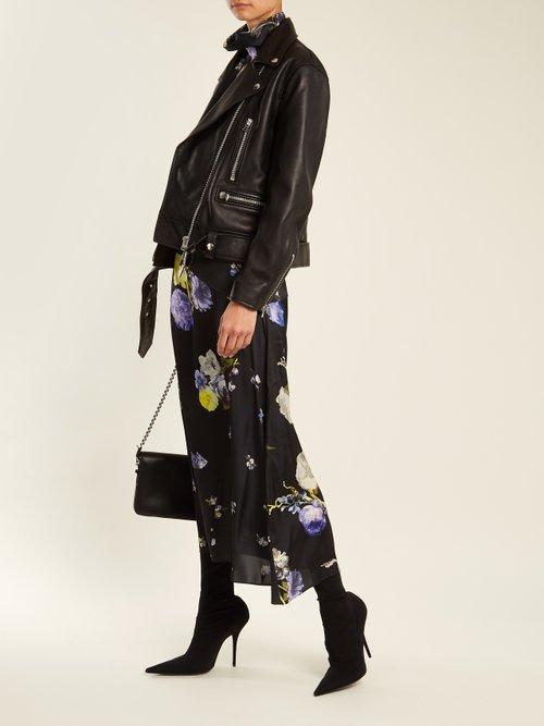 Merlyn Oversized Leather Biker Jacket by Acne Studios