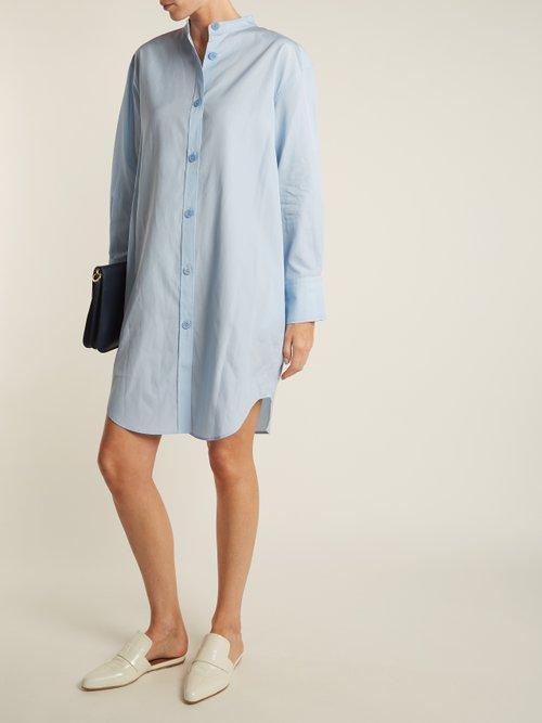 Diede Dry Pop cotton-poplin shirtdress by Acne Studios