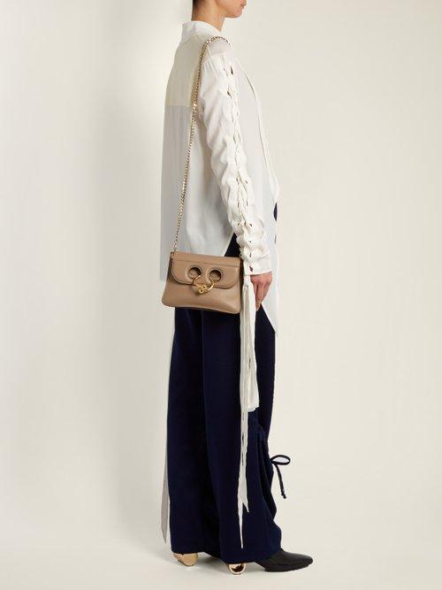 Lace-up crepe de Chine blouse by Jw Anderson