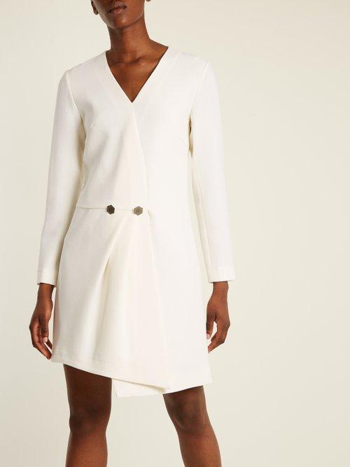 Theresia wool-crepe asymmetric dress by Osman