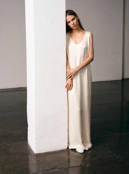 Yellin stretch-cady column dress by The Row