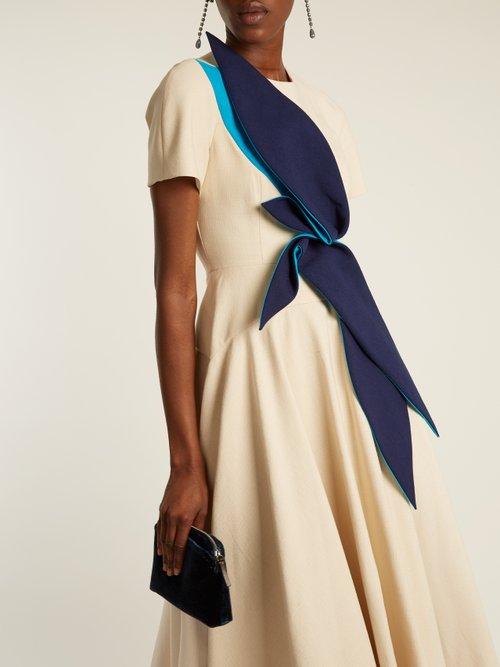 Panama-cotton long dress by Delpozo