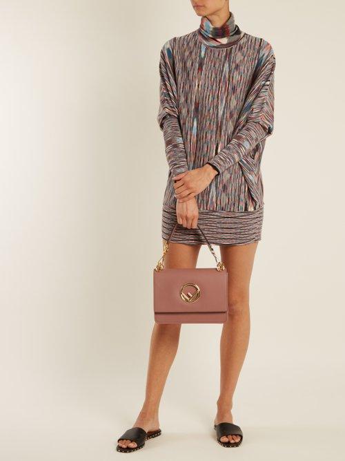 Roll-neck striped wool-blend dress by Missoni
