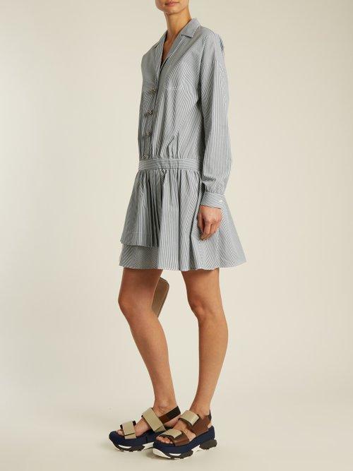 Striped cotton shirtdress by No. 21