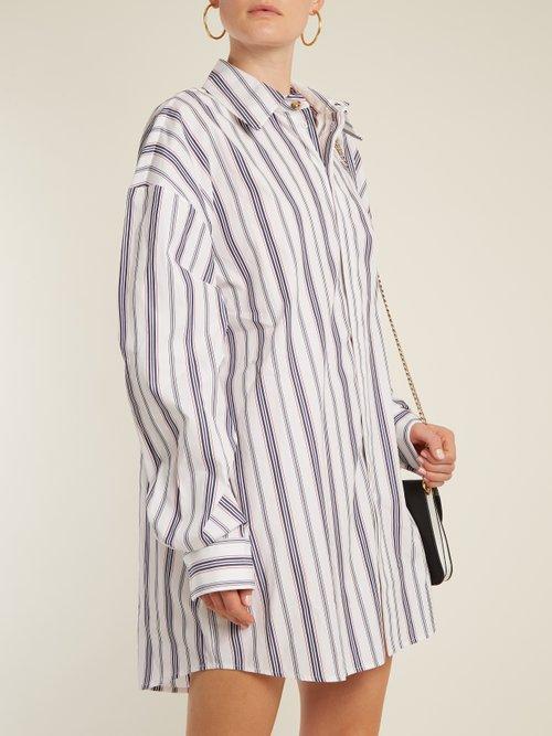 Oversized striped cotton shirtdress by A.W.A.K.E.