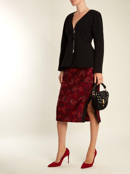 Ghianda mini braided-leather suede shoulder bag by Altuzarra