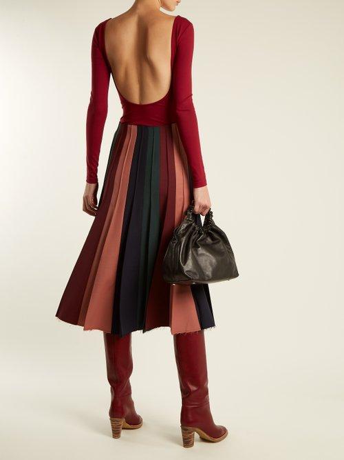 Marlene leather knee-high boots by Gabriela Hearst