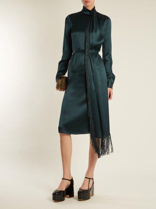 Buy Gabriela Hearst dresses Cady leather Mary-Jane flatform shoes shoes online