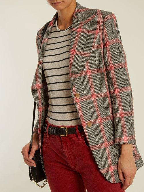 Andreia striped linen-blend T-shirt by