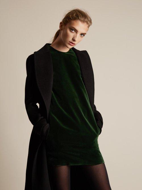 Ara velvet mini dress by Racil