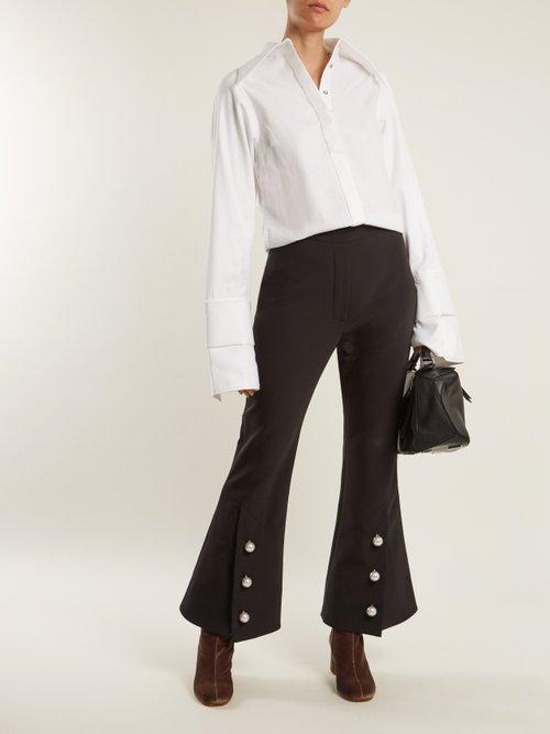 Agnes block-heel velvet ankle boots by Maryam Nassir Zadeh