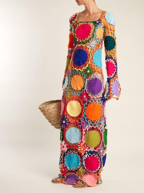 Dreamcatcher crochet-knit maxi dress by My Beachy Side