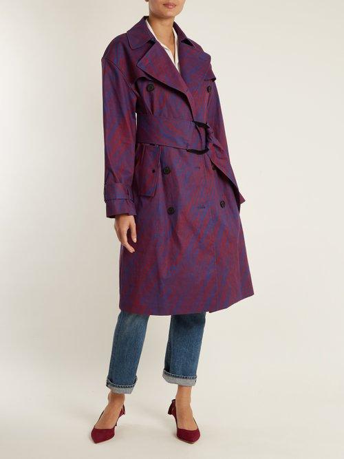 Visconti Print Cotton Blend Trench Coat by Diane Von Furstenberg