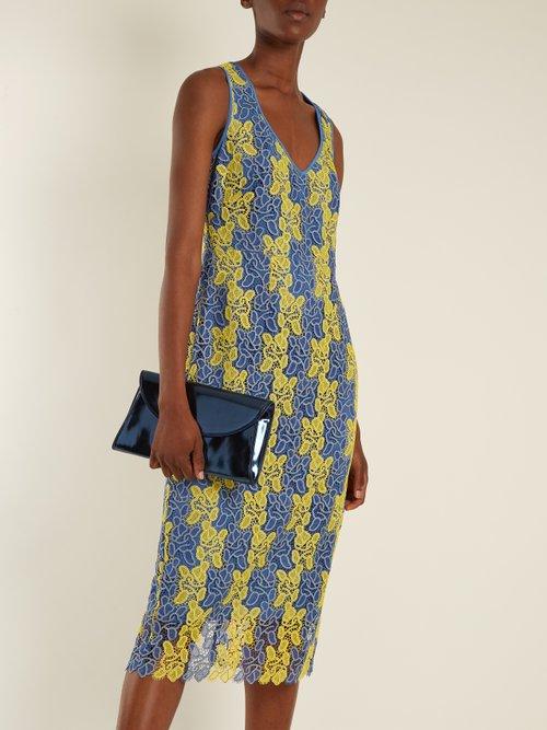 Bi-colour lace midi dress by Diane Von Furstenberg