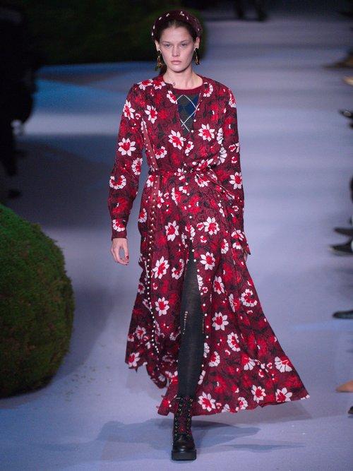 Melia floral-print silk-jacquard dress by Altuzarra